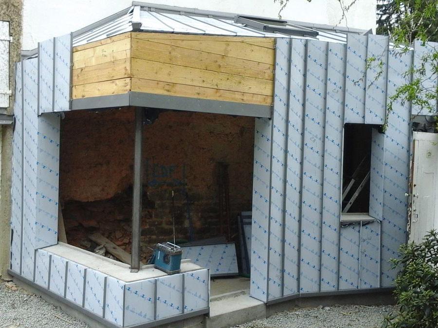 Extension ossature bois bordeaux bassin d 39 arcachon for Extension maison ossature metallique